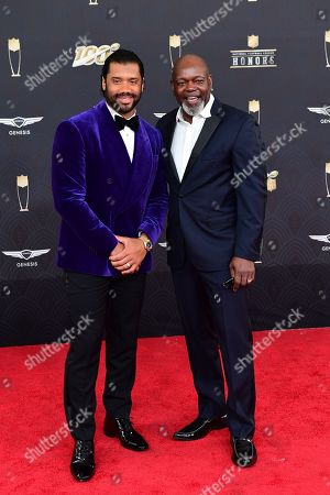 Russell Wilson, Emmitt Smith. Russell Wilson and Emmitt Smith at the 9th Annual NFL Honors at the Adrienne Arsht Center in Miami on