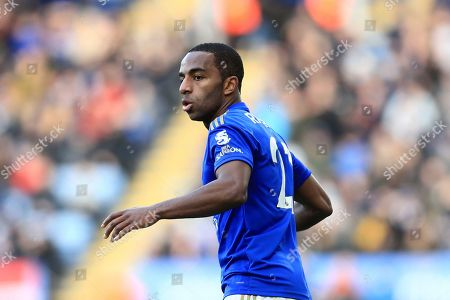 Leicester's Ricardo Pereira during the premier league match between Leicester City and Chelsea at the King Power Stadium in Leicester, England, Saturday, February 1st, 2020