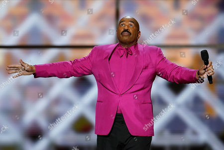 Comedian Steve Harvey performs during NFL Honors football award show, in Miami