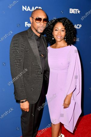 Dorian Missick and Simone Missick attend the 51st NAACP Image Awards Nominees Luncheon at the W Hollywood on Saturday February 1, 2020 in Hollywood, CA