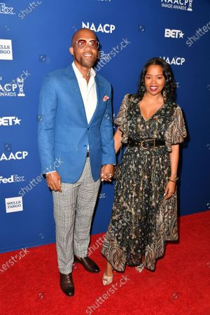Taria Walker and Malinda Williams attend the 51st NAACP Image Awards Nominees Luncheon at the W Hollywood on Saturday February 1, 2020 in Hollywood, CA