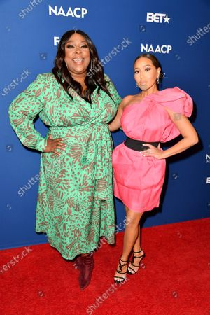 Loni Love and Adrienne Houghton attend the 51st NAACP Image Awards Nominees Luncheon at the W Hollywood on Saturday February 1, 2020 in Hollywood, CA