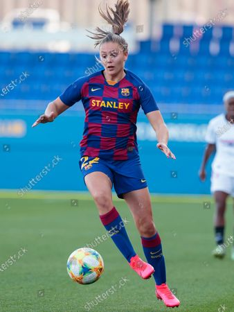 Lieke Martens of FC Barcelona in action during the Spanish women's league Primera Iberdrola match between FC Barcelona v Sevilla FC at Johan Cruyff Stadium on in Barcelona, Spain. (Photo by DAX/ESPA-Images)
