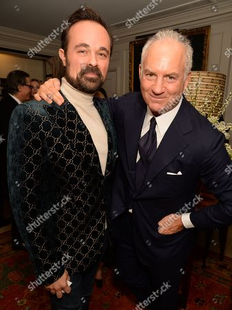 Evgeny Lebedev and Charles Finch