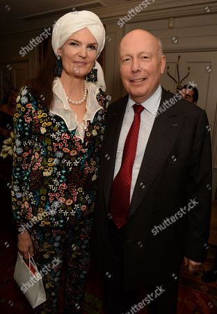 Stock Photo of Julian Fellowes and wife