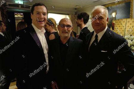 Stock Picture of George Osborne, Alan Yentob, Charles Finch