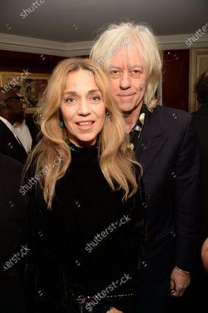 Stock Image of Bob Geldof and Jeanne Marine