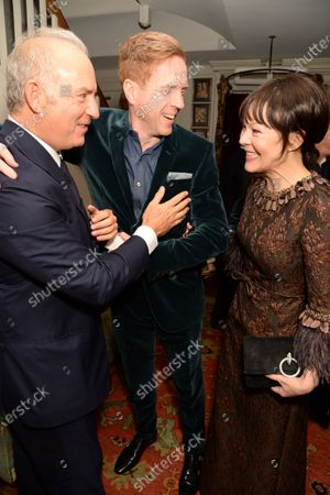 Charles Finch, Damian Lewis and Helen McCrory