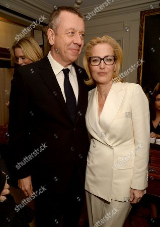 Peter Morgan and Gillian Anderson