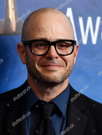 "Damon Lindelof, the creator/executive producer/writer of the HBO series ""Watchmen,"" poses at the 2020 Writers Guild Awards at the Beverly Hilton, in Beverly Hills, Calif"
