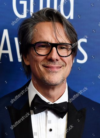 "Charles Randolph, recipient of the Paul Selvin Award for his script for the film ""Bombshell,"" poses at the 2020 Writers Guild Awards at the Beverly Hilton, in Beverly Hills, Calif"