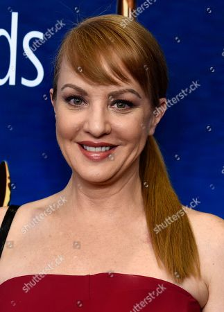 Stock Photo of Wendi McLendon-Covey poses at the 2020 Writers Guild Awards at the Beverly Hilton, in Beverly Hills, Calif