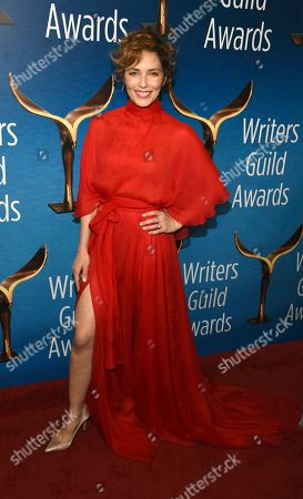 Mili Avital poses at the 2020 Writers Guild Awards at the Beverly Hilton, in Beverly Hills, Calif