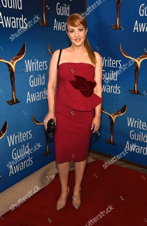 Wendi McLendon-Covey poses at the 2020 Writers Guild Awards at the Beverly Hilton, in Beverly Hills, Calif