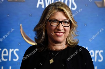 "Lauren Greenfield, a Writers Guild Award nominee for Documentary Screenplay for ""The Kingmaker,"" poses at the 2020 Writers Guild Awards at the Beverly Hilton, in Beverly Hills, Calif"