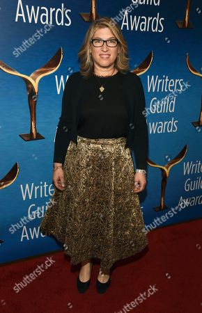 Lauren Greenfield poses at the 2020 Writers Guild Awards at the Beverly Hilton, in Beverly Hills, Calif
