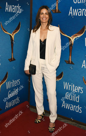 "Susannah Grant, a writer on the television series ""Unbelievable,"" poses at the 2020 Writers Guild Awards at the Beverly Hilton, in Beverly Hills, Calif"