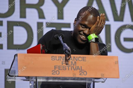 Kenyan director Sam Soko accepts the World Cinema Documentary Special Jury Award for Editing for the movie 'Softie' at the 2020 Sundance Film Festival awards night in Park City, Utah, USA, 01 February 2020. The festival ran from the 22 January to 02 February 2020.
