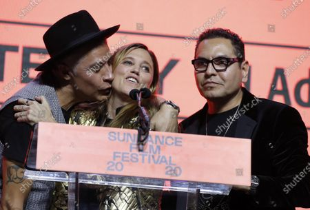 Heidi Ewing (C) accepts the Next Innovator Award for the movie 'I Carry You With Me' at the 2020 Sundance Film Festival awards night in Park City, Utah, USA, 01 February 2020. The festival ran from the 22 January to 02 February 2020.