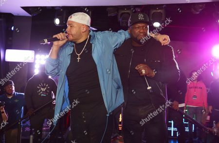 Fat Joe, 50 Cent. Fat Joe and 50 Cent perform at the Pepsi Super Splash Pool Party at Pepsi Neon Beach, in South Beach, FL