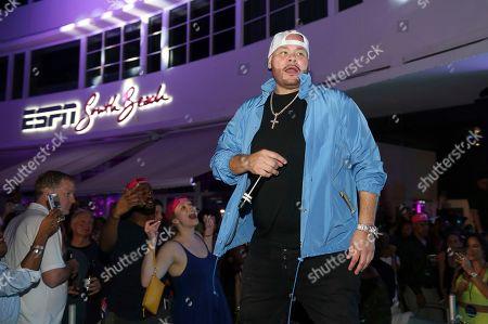 Fat Joe performs at the Pepsi Super Splash Pool Party at Pepsi Neon Beach, in South Beach, FL