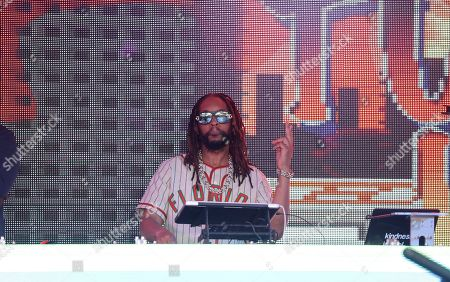 Stock Image of DJ Lil Jon performs at the Pepsi Super Splash Pool Party at Pepsi Neon Beach, in South Beach, FL