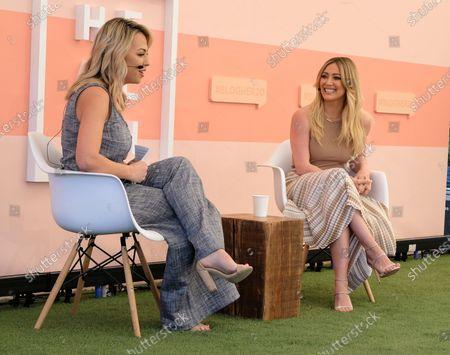 Jessica Hall and Hilary Duff