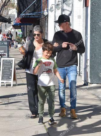 Selma Blair, David Lyons and her son Arthur Saint
