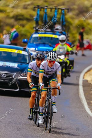 Carter Turnbull (AUS) and Elliot Schultz (AUS) of Kordamentha Australian National Team during the 2020 Cadel Evans Great Ocean Road Race