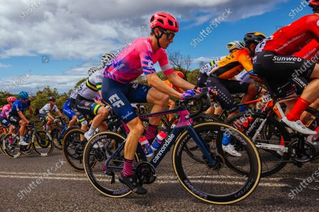 Neilson Powless (USA) of EF Pro Cycling passes Bells Beach during the 2020 Cadel Evans Great Ocean Road Race
