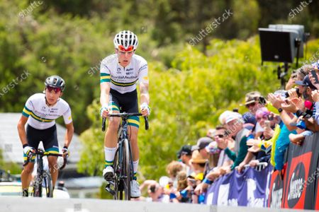 Carter Turnbull (AUS) of Kordamentha Australian National Team leads up Challambra Crescent during the 2020 Cadel Evans Great Ocean Road Race