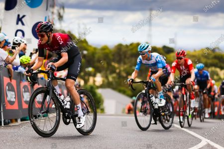 Pavel Sivakov (RUS) of Team Ineos reaches the top of Challambra Crescent during the 2020 Cadel Evans Great Ocean Road Race