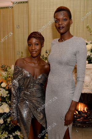 Sheila Atim (right) and guest