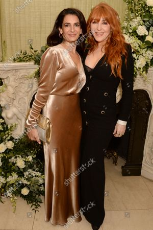 Stock Picture of Charlotte Tilbury (right) and guest