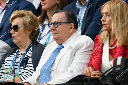 Australian comedian Barry Humphries watching the Men's Singles Final match between 2nd seed NOVAK DJOKOVIC (SRB) and 5th seed DOMINIC THIEM (AUT) on Rod Laver Arena in the on day 14 of the Australian Open in Melbourne, Australia