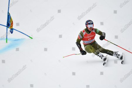 Ted Ligety of the United States in action during the first run of the Men's Giant Slalom at the FIS Alpine Skiing World Cup in Garmisch-Partenkirchen, Germany, 02 February 2020.