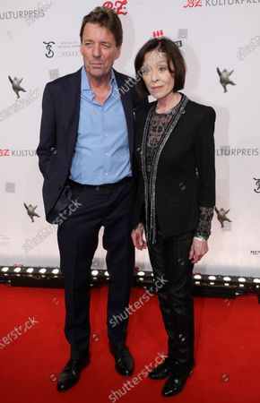 Peter Wolf (L) and Susanne Juhnke (R) arrive for the B.Z. Culture Award ceremony in Berlin, Germany, 28 January 2020. Since 1991, the Berlin tabloid newspaper B.Z. awards this annual prize to personalities that contributed to excellence for cultural and artistic diversity in the German capital.