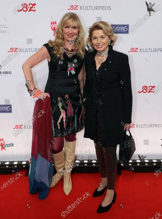 Nanna Kuckuck (L) and Tini Graefin Rothkirch (R) arrive for the B.Z. Culture Award ceremony in Berlin, Germany, 28 January 2020. Since 1991, the Berlin tabloid newspaper B.Z. awards this annual prize to personalities that contributed to excellence for cultural and artistic diversity in the German capital.