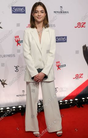 German actress Lisa-Marie Koroll arrives for the B.Z. Culture Award ceremony in Berlin, Germany, 28 January 2020. Since 1991, the Berlin tabloid newspaper B.Z. awards this annual prize to personalities that contributed to excellence for cultural and artistic diversity in the German capital.
