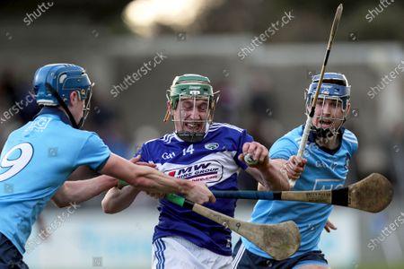 Dublin vs Laois. Laois' Willie Dunphy with Riain McBride and Sean Moran of Dublin
