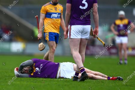 Wexford vs Clare. Wexford's Joe O'Connor down injured