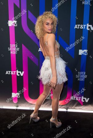 Jasmine Sanders attends the AT&T TV Super Saturday Night at Meridian on Island Gardens in Miami, in Miami, Fla