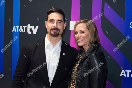 Kevin Richardson, Kristin Richardson. Kevin Richardson, left, and Kristin Richardson attend the AT&T TV Super Saturday Night at Meridian on Island Gardens in Miami, in Miami, Fla