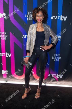 Sage Steele attends the AT&T TV Super Saturday Night at Meridian on Island Gardens in Miami, in Miami, Fla