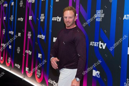 Ian Ziering attends the AT&T TV Super Saturday Night at Meridian on Island Gardens in Miami, in Miami, Fla