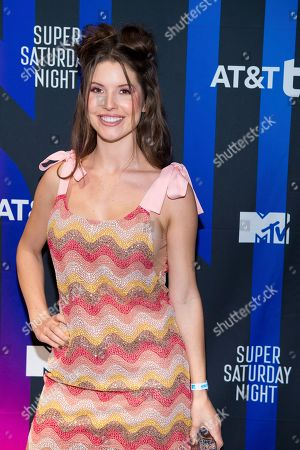 Stock Picture of Amanda Cerny attends the AT&T TV Super Saturday Night at Meridian on Island Gardens in Miami, in Miami, Fla