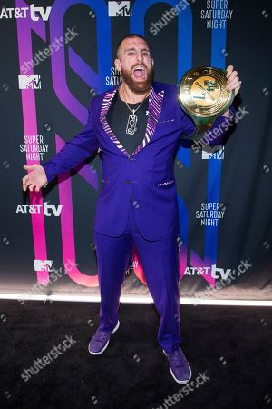 Stock Photo of Mojo Rawley attends the AT&T TV Super Saturday Night at Meridian on Island Gardens in Miami, in Miami, Fla