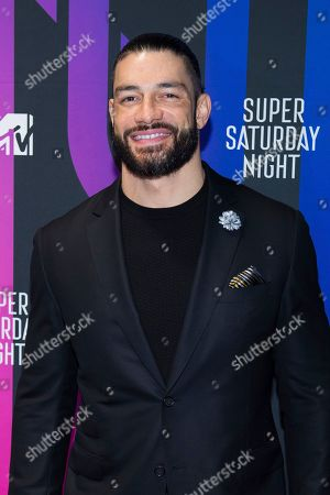 Roman Reigns attends the AT&T TV Super Saturday Night at Meridian on Island Gardens in Miami, in Miami, Fla
