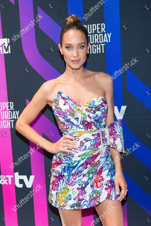 Hannah Jeter attends the AT&T TV Super Saturday Night at Meridian on Island Gardens in Miami, in Miami, Fla