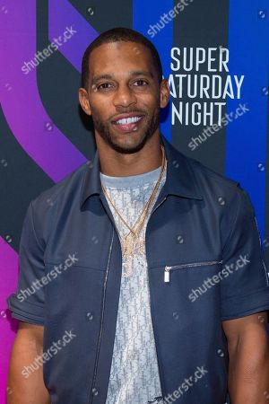 Victor Cruz attends the AT&T TV Super Saturday Night at Meridian on Island Gardens in Miami, in Miami, Fla